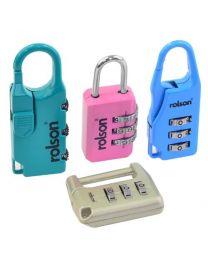Rolson 66497 Combination Lock - 4 Pieces