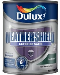 Dulux Weather Shield Quick Dry Satin Paint, 750 ml - Heathland