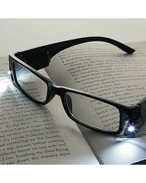 LED Black Reading Glasses +1.50