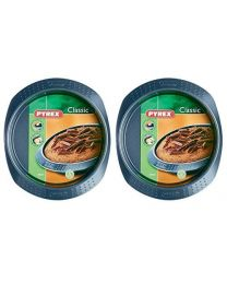 Pyrex Classic Cake Pan Set, 20cm, 2 Pack Grey