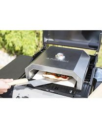 La Hacienda Firebox BBQ Pizza Oven - Works on Gas or Charcoal BBQ's