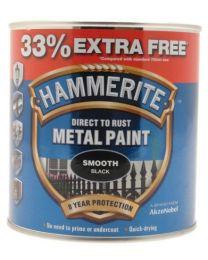 Hammerite 5158235 750ml Metal Paint - Smooth Black