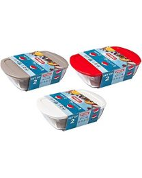 PYREX 2pc COOK & STORE (Limited Edition) 2.5ltr/1.1ltr STORAGE SET (White)
