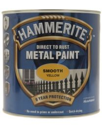 Hammerite SFY25L 2.5L Direct to Rust Smooth Finish - Yellow