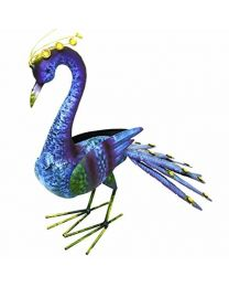 Rolson 84013 Tail Down Peacock Garden Ornament, Metal, 57x25x48 cm