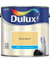 Dulux 500006 Du Matt Paint, 2.5 L - Butter Biscuit