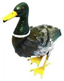 Rolson 84010 Mallard Duck Garden Ornament, Metal, 29.5x14x28 cm