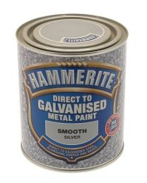 Hammerite 5097051 750ml Direct to Galvanised Metal Paint - Silver