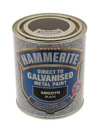 Hammerite 5097049 750ml Direct to Galvanised Metal Paint - Black