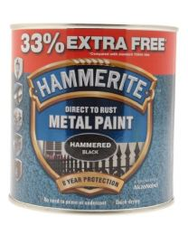 Hammerite 5158237 750ml Metal Paint - Hammered Black