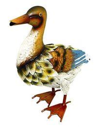 Rolson 84011 Duck Garden Ornamant, Metal, 29x14x32 cm