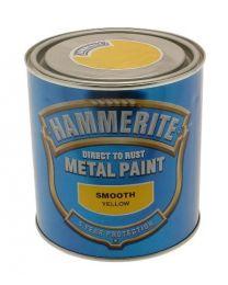 Hammerite 5084874 Metal Paint: Smooth Yellow 250ml