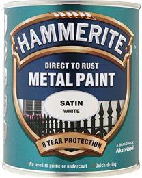 Hammerite SATW750 750ml Direct to Rust Satin Finish - White
