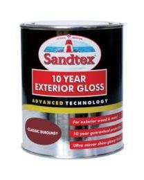 Sandtex High Performance Exterior Gloss Paint Classic Burgundy 750ml