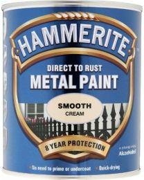 Hammerite SFCR750 750ml Direct to Rust Smooth Finish - Cream