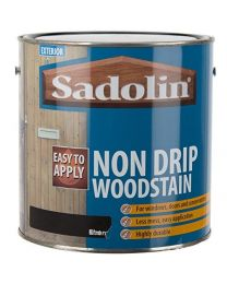 Sadolin Exterior Non Drip Less Mess Water Based Woodstain For Windows, Doors and Conservatories - Ebony 2.5L
