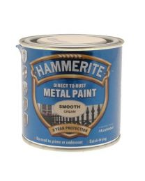 Hammerite ICI 5122058 HM 250ml Smooth Metal Paint - Cream
