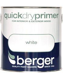 Berger Brilliant White Quick Drying Primer Paint - 2.5L Litre