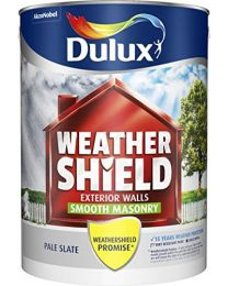 Dulux Weather Shield Smooth Masonry Paint, 5 L - Pale Slate