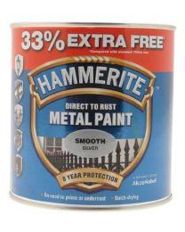 Hammerite 5158234 750ml Metal Paint - Smooth Silver