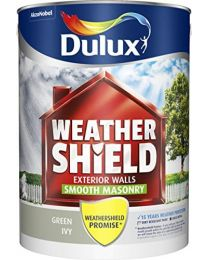 Dulux Weather Shield Smooth Masonry Paint, 5 L - Green Ivy