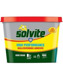 Solvite Ready to Use High Performance Wallcoverings Adhesive - Pack of 3
