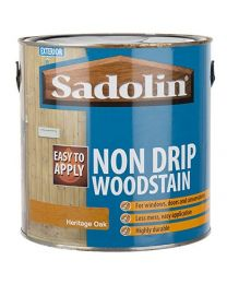 Sadolin Exterior Non Drip Less Mess Water Based Woodstain For Windows, Doors and Conservatories - Heritage Oak 2.5L