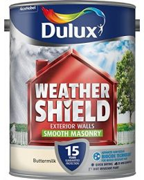 Dulux Weather Shield Smooth Masonry Paint, 5 L - Buttermilk