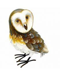 Rolson 84009 Barn Owl Garden Ornament, Metal, 31.5x16x36 cm