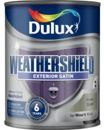 Dulux Weather Shield Quick Dry Satin Paint, 750 ml - Green Glade