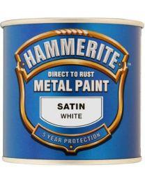 HAMRITE Hammerite 5092881 Metal Paint: Satin White 250ml