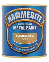 Hammerite 5084818 Metal Paint: Hammered Gold 250ml