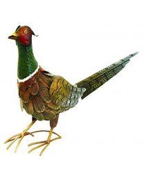 Rolson 84007 Pheasant Garden Ornament, Metal, 27.5x16x40 cm