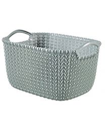 Curver Knit Rectangular Basket, Blue, 8 Litre