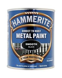Hammerite 5084863 HAM6722001 250ml Metal Paint - Smooth Black