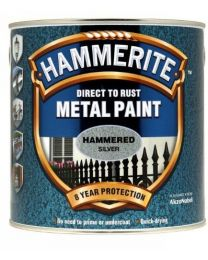 Hammerite HFSG25L 2.5L Direct to Rust Hammered Finish - Silver