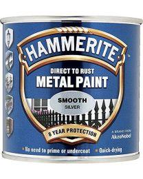 Hammerite 5084894 HAM6700043 250ml Metal Paint - Smooth Silver