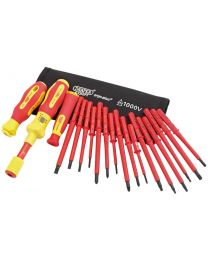 Draper Ergo Plus® Interchangeable VDE Torque Screwdriver Set (19 Piece)