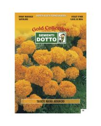 Dwarf Orange Marigold (Tagetes Patula) - Gold Seeds By Sementi Dotto 1.8gr