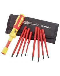 Draper Ergo Plus® Interchangeable VDE Torque Screwdriver Set (9 Piece)