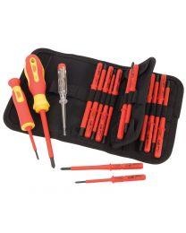 Draper Ergo Plus® VDE Screwdriver Set with Interchangeable Blades (18 Piece)