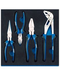 Draper Pliers Set in 1/2 Drawer EVA Insert Tray (4 Piece)