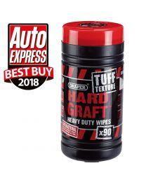 Draper Tuff Texture, 'Hard Graft' Heavy Duty Wipes (Tub of 90)
