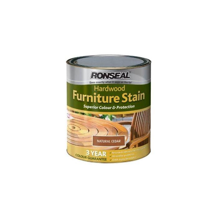 Ronseal Hwfsnc750 Hardwood Furniture Stain Natural Cedar 750ml Allthesupplies
